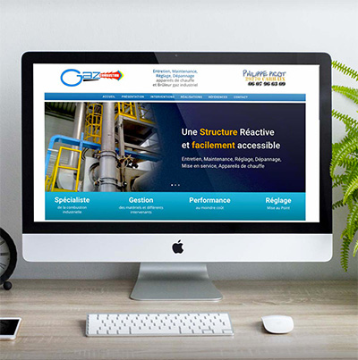 Breizhdez.fr : Réalisation de site web et blog : Site Gaz Combustion : Entretien, Maintenance, Réglage, Dépannage appareils de chauffe
