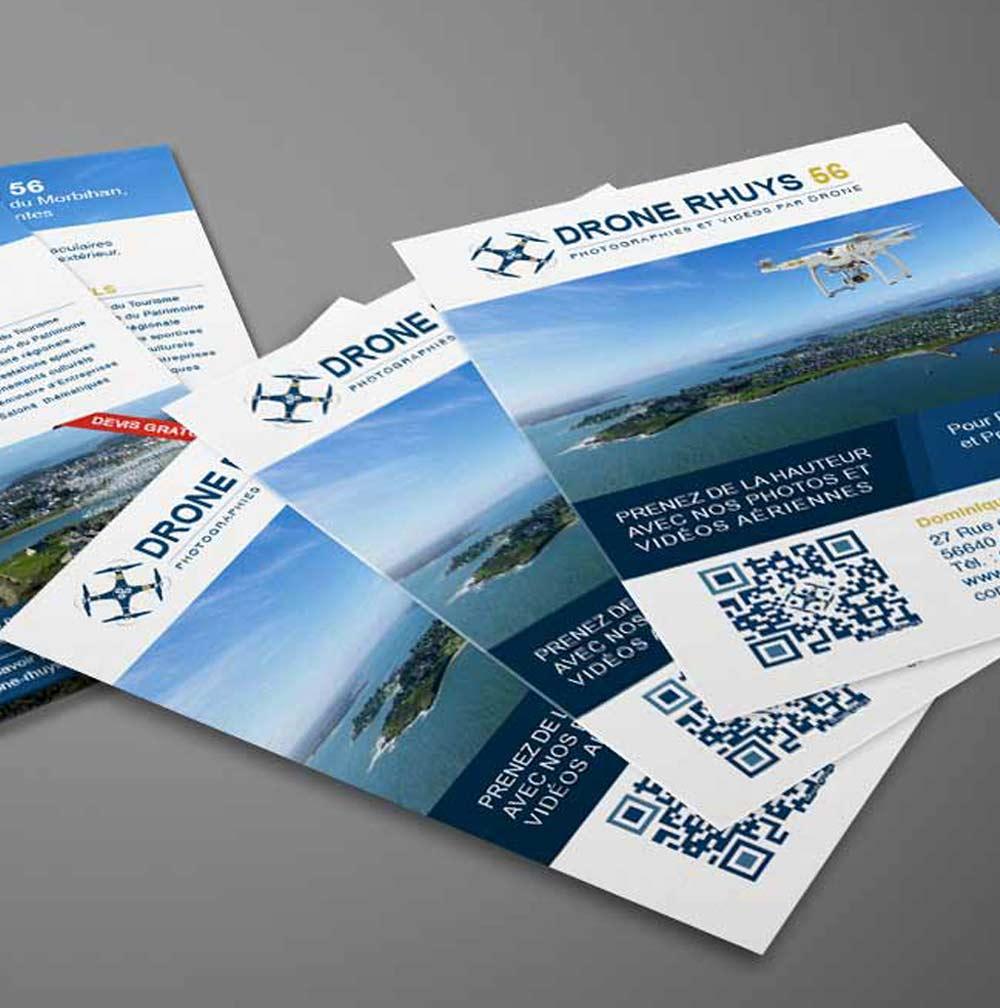 Création d'un logo, d'une carte de visite et d'un flyer recto/verso : Drone