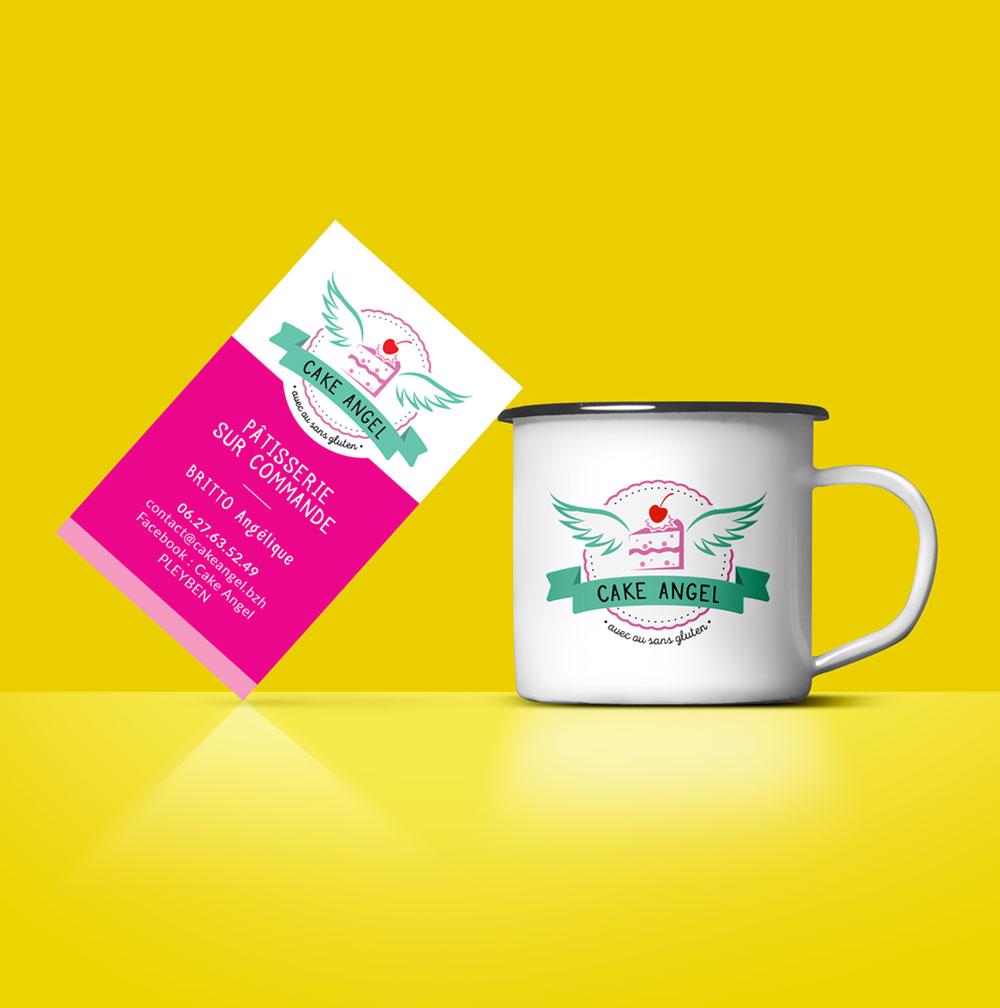 logo et carte de visite : vente en ligne de pâtisseries