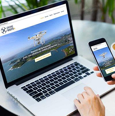 Breizhdez.fr : Réalisation de site web et blog : Société spécialiste des drones dans le golf du Morbihan