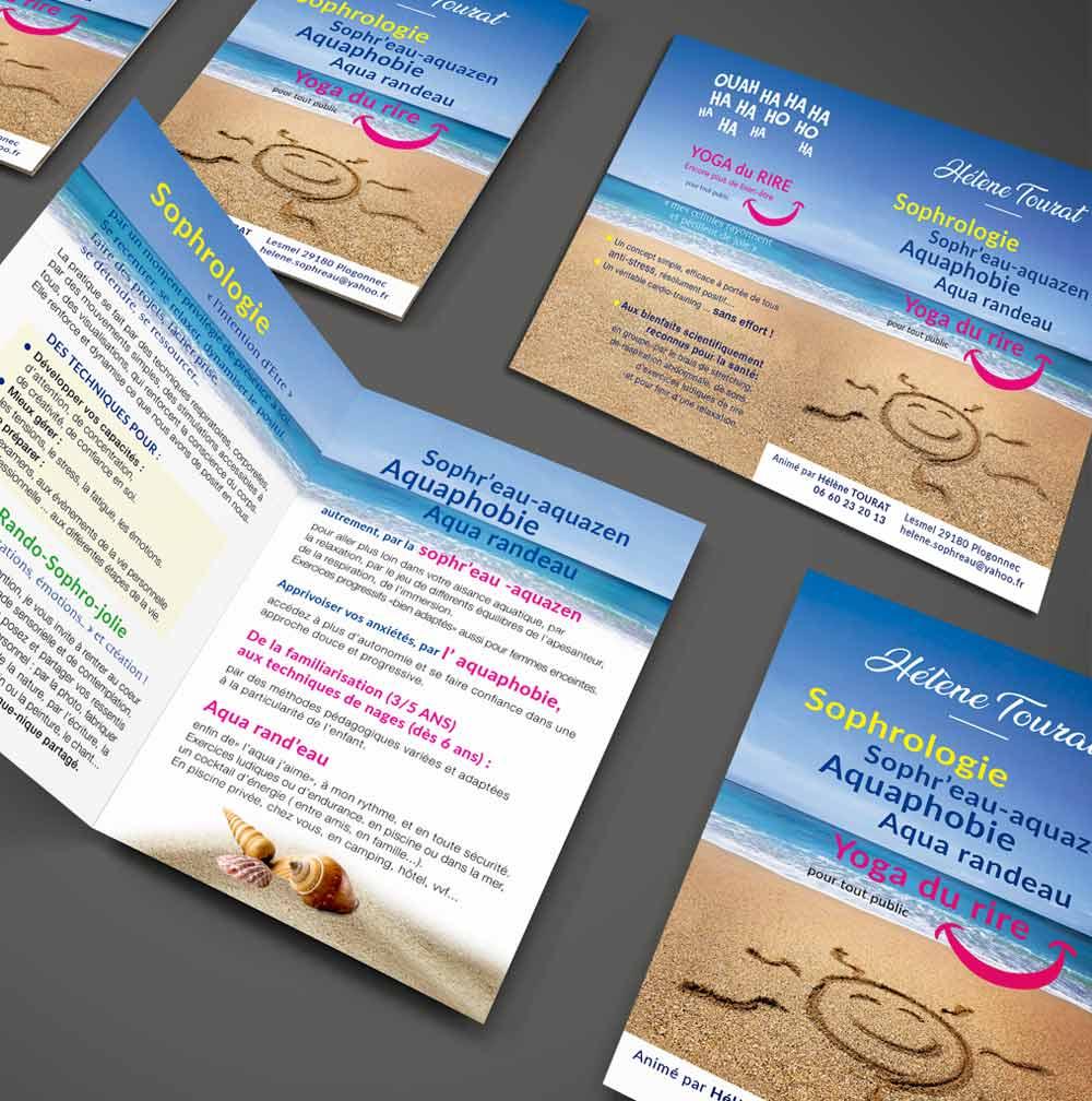 Dépliant 2 volets 4 pages - Sophrologie - Yoga du rire